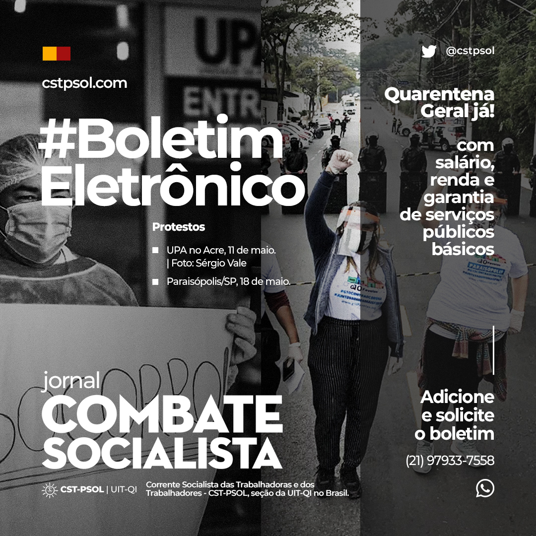 BoletimEletronico 18maio2020 post site coronavirus covid19 protesto-da-saude protesto-paraisopolis