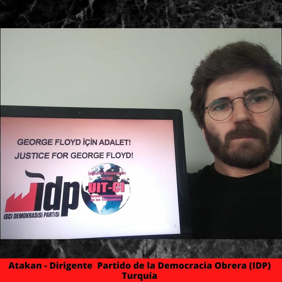 atakan - dirigente  partido de la democracia obrera idp turqua