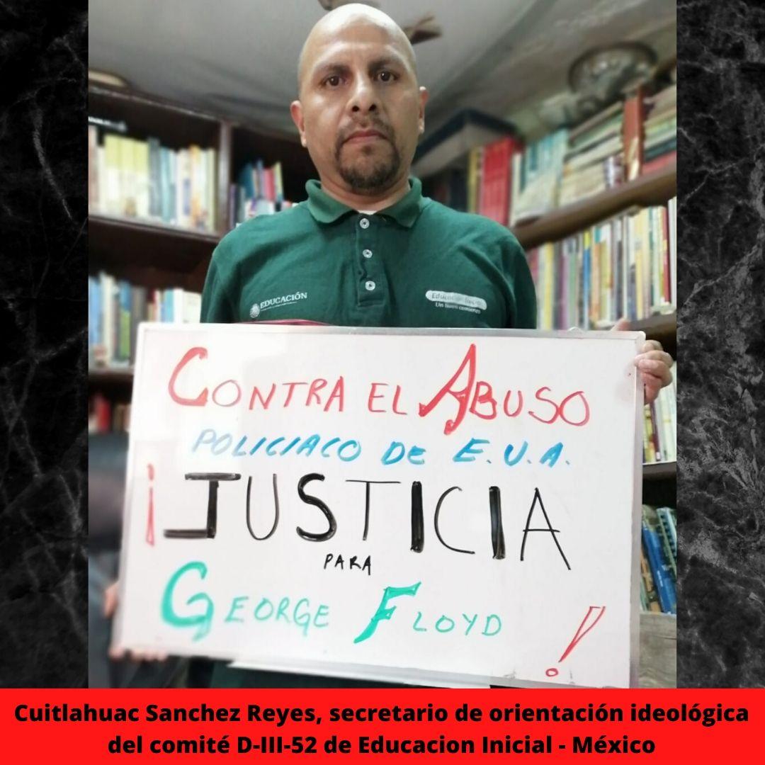 cuitlahuac sanchez reyes secretario de orientacin ideolgica del comit d-iii-52 de educacion inicial - mxico