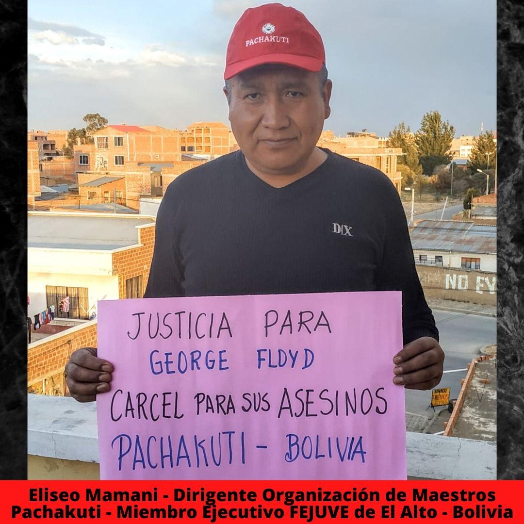 eliseo mamani - dirigente organizacin de maestros pachakuti - miembro ejecutivo fejuve de el alto - bolivia