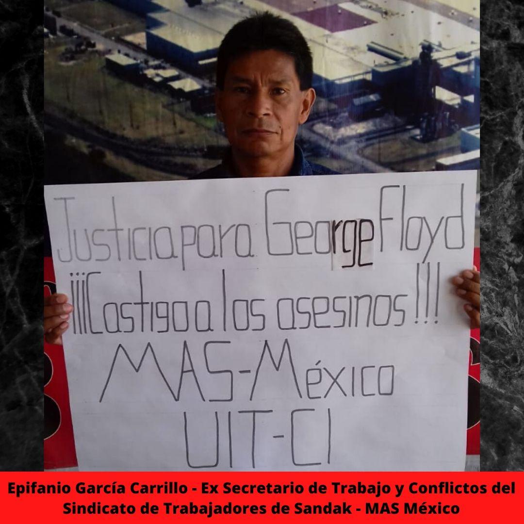 epifanio garca carrillo - ex secretario de trabajo y conflictos del sindicato de trabajadores de sandak - mas mxico