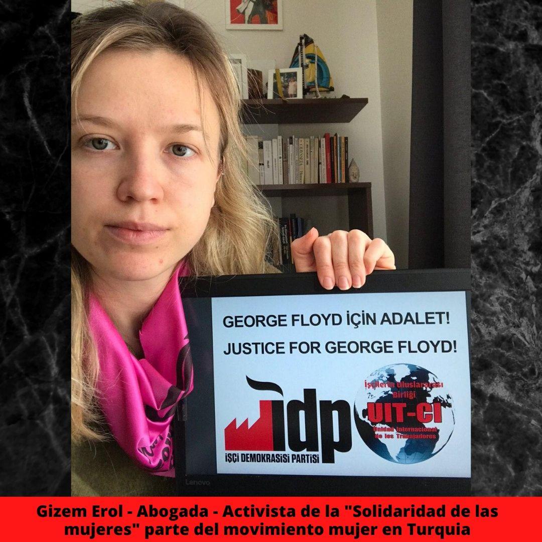 gizem erol abogado activista de la solidaridad de las mujeres parte del movimiento mujer en turquia