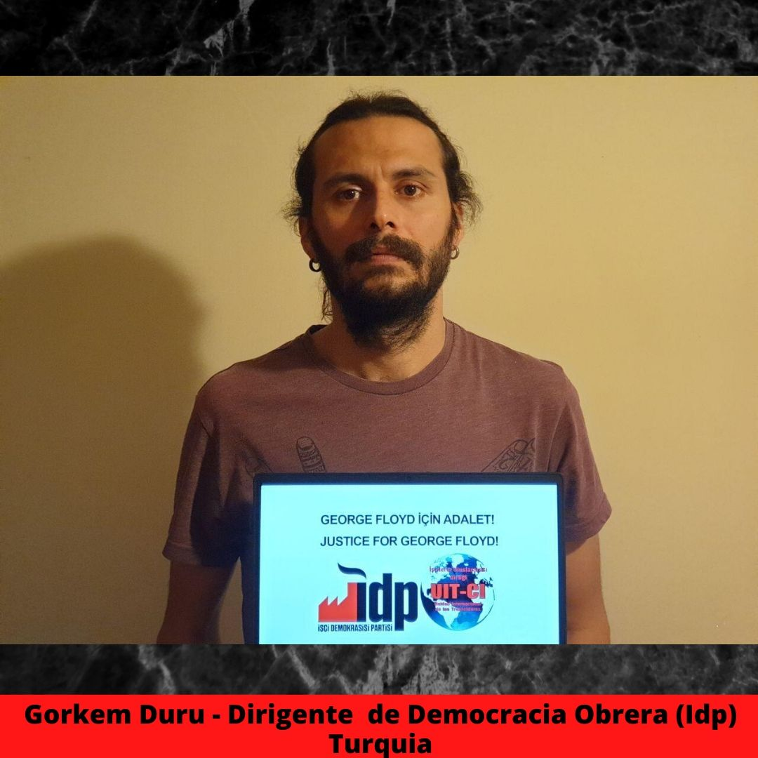 gorkem duru - dirigente  de democracia obreraidp turquia