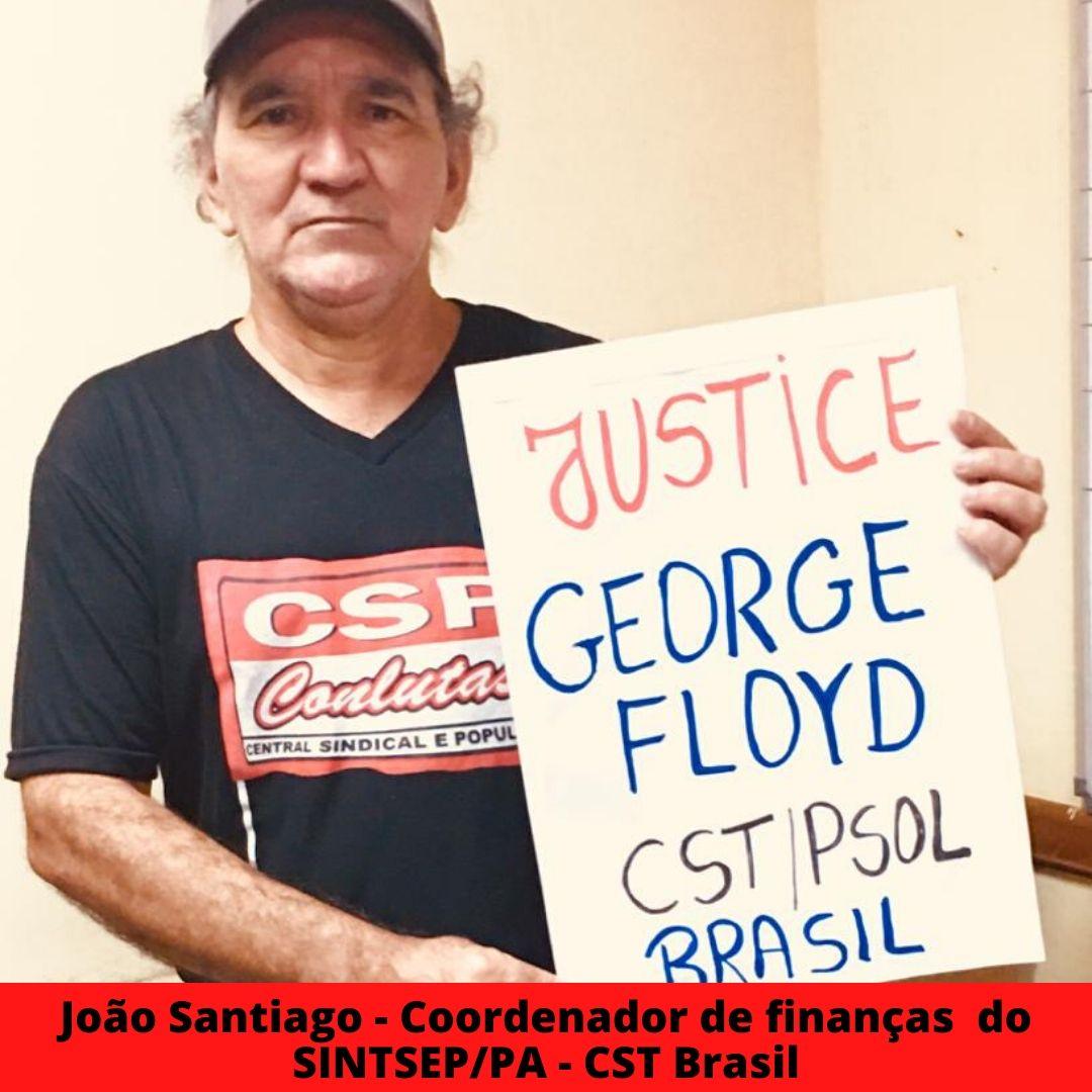 joo santiago - coordenador de finanas  do sintsep pa - cst brasil