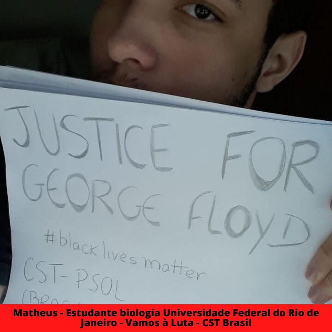 matheus - estudante biologia universidade federal do rio de janeiro   vamos  luta cst