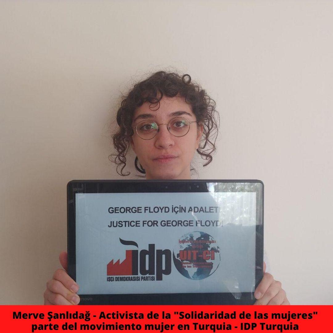 merve anlda - activista de la  solidaridad de las mujeres  parte del movimiento mujer en turquia - idp turquia