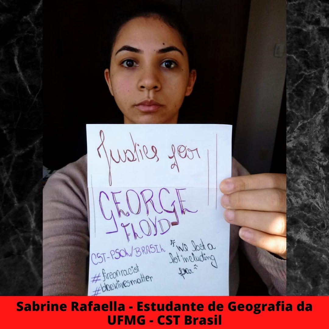 sabrine rafaella - estudante de geografia da ufmg - cst brasil